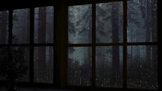 🎧 Rain on Window - Rain in Forest at Night - 10 Hours Relaxation and Sleep | CALM Rain | deep sleep