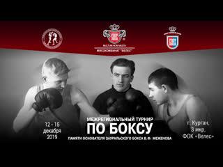 Межрегиональный турнир по боксу памяти В.Ф. Меженова. I День