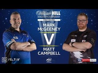 2020 World Darts Championship Round 1  McGeeney vs Campbell
