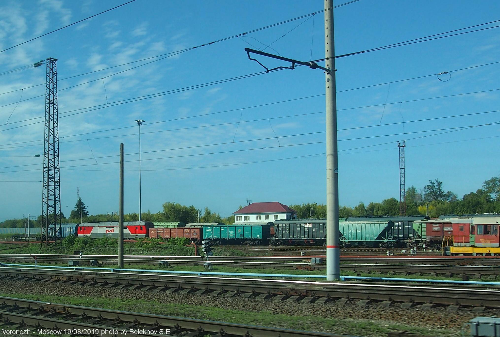 железная дорога, сквозь окно, Воронеж - Москва