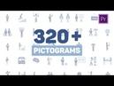 Pictogram Icons MOGRT for Premiere Envato Templates