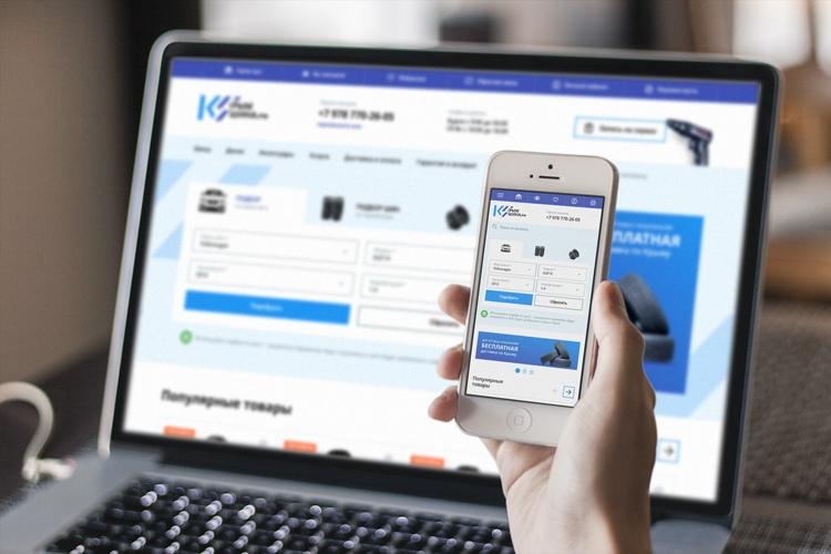 Сайт «Крымшина» и его адаптивная версия для мобильного телефона. TigerWeb