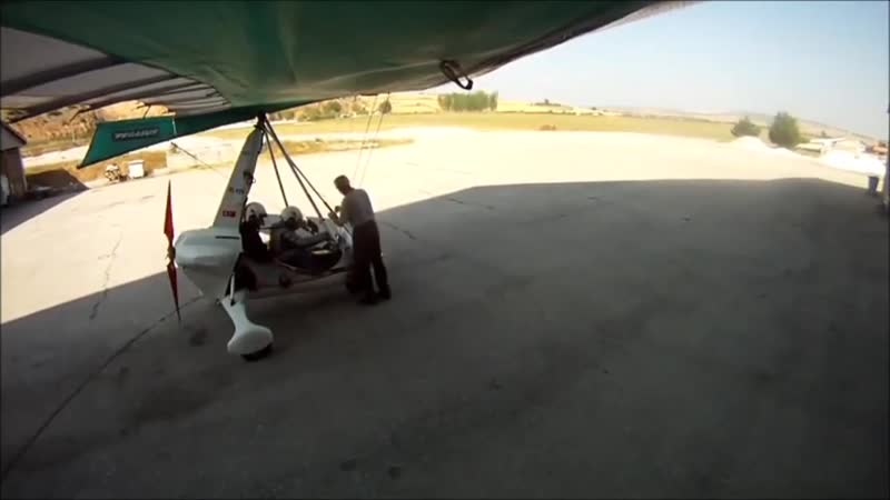 Flight from THK İnönü to Yenişehir Airport by Microlight. Part1