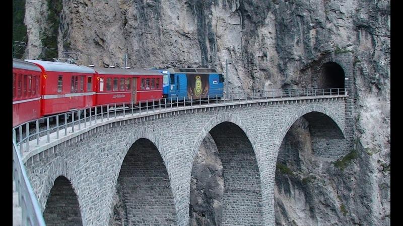 Bernina Express Part 2 Brusio to Thusis.