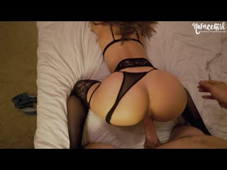 Nofacegirl - black lingerie never looked so good