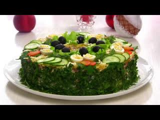 """Салат """"Сытый Барин""""/Мясной Праздничный салат. Рецепт от VIKKA video.(Ингредиенты в описании видео)"""