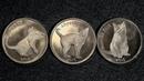 3 монеты 1 фунт Остров Сторма. Кошки 2016 года выпуска.