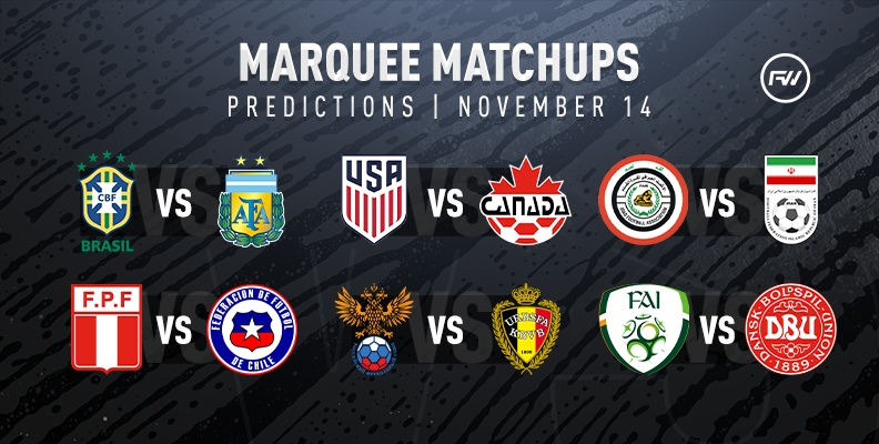 FIFA 20 Marquee Matchups Predictions: November 14th