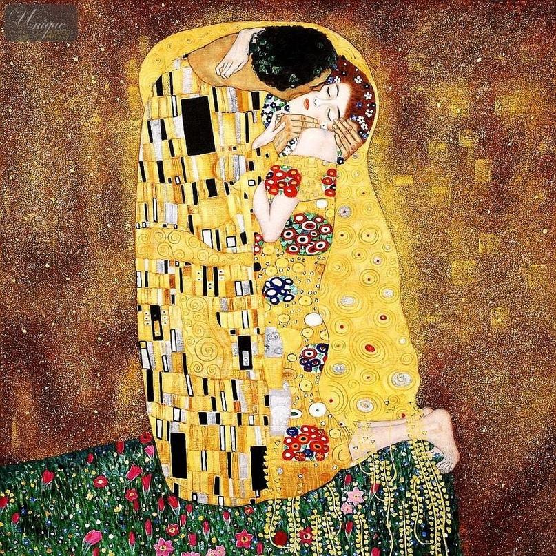 Поцелуй - Густав Климт. 1907-1908. Холст, масло. 180x180 см