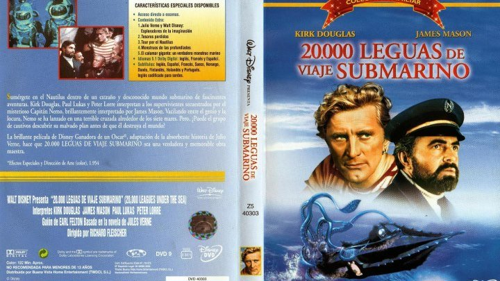 Cine Aventuras 20 000 leguas de viaje submarino *1954*