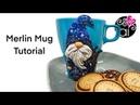 Merlin Mug Polymer Clay Tutorial | Tutorial Tazza Mago Merlino con Papas Clay