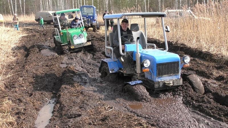 Возможности самодельного трактора 4x4 на бездорожье
