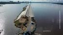 Борьба с паводком: в Хабаровске на набережной Амура устанавливают водоналивную дамбу