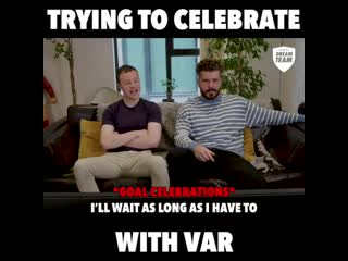 Trying to celebrate with var 😂