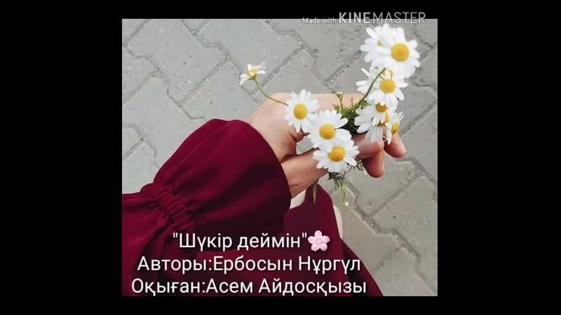Ербосын Нұргүл Шүкір деймін