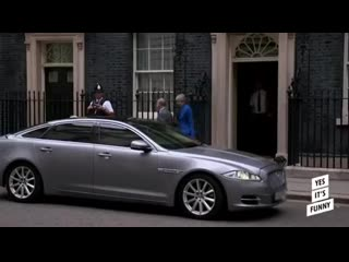 Theresa May exiting 10 Downing Street, this is funny 😂 🤣