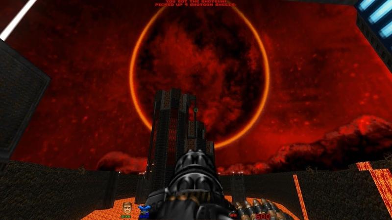 Back to Saturn X E2 Level 22 Beneath a Festering Moon Finale Brutal Doom v21