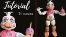 FUNTIME CHICA FNAF 6 Freddy Fazbear's Pizzeria Simulator Tutorial Polymer clay cold porcelain