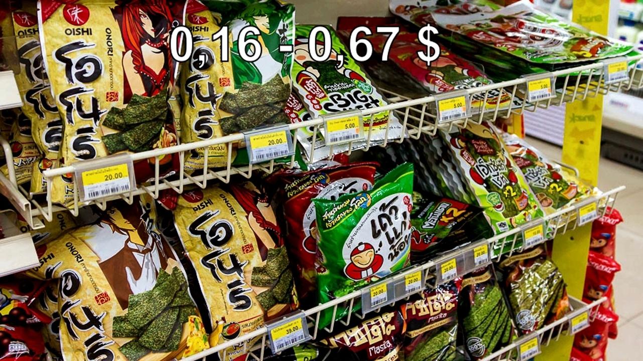 Цены на продукты и еду в Таиланде.  O6FZCvOAnw0