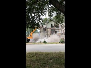 Разрушение дома в Озёрске