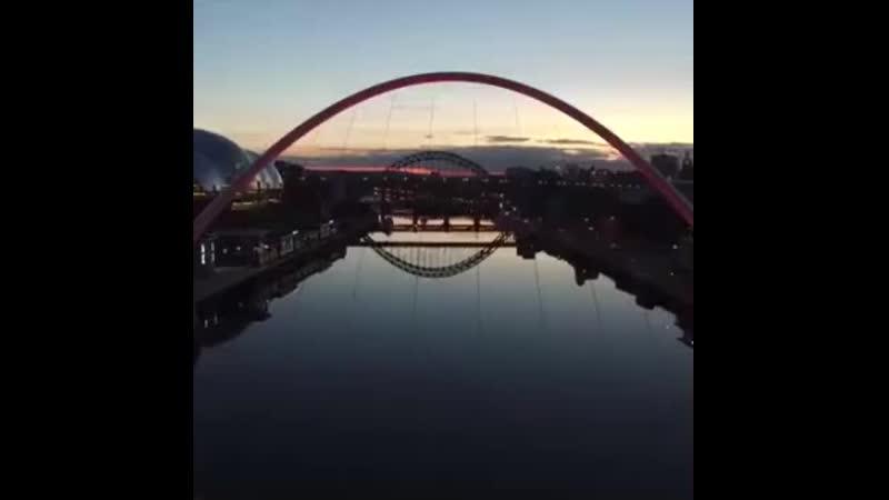 Мост Миллениум в Северной Англии