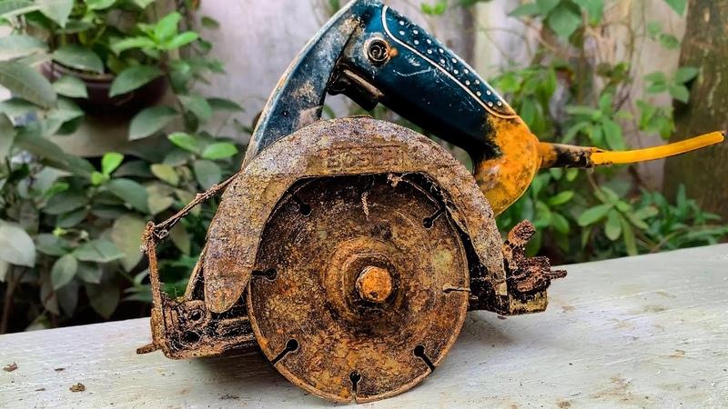 Restoration Old Rusty Hand-Held Circular Saw Bosch - Restore Concrete Cutter Machine