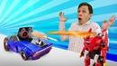 Игры Трансформеры Монкарт Драка против Десептикона Видео с машинками в Автомастерской