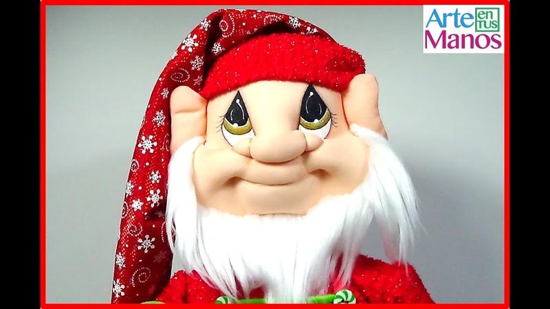 Como hacer con lana, barbas, cejas y bigotes para Santa, duendes y Gnomos