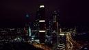 Москва Сити ночью с дрона Fimi X8SE. 4K UHD Видео.