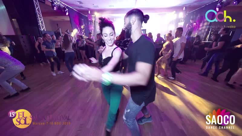 Soufiane Ottmani and Shaqed Frumkin Salsa Dancing at El Sol Warsaw Salsa Festival 2019 Thursday 07 11 2019