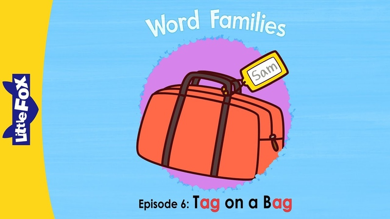 Word Family ag Word Families 6 Tag on a Bag Phonics Little Fox Animated Stories for Kids