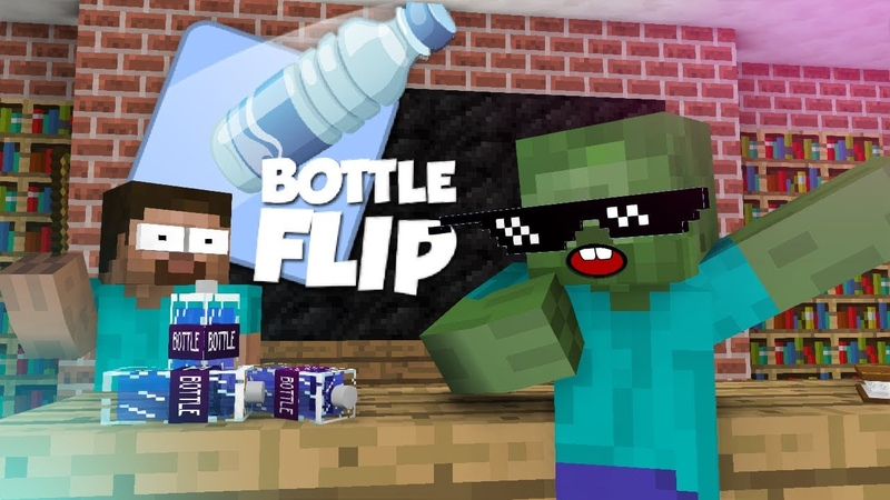 Monster School : Bottle Flip Challenge VS GRANNY - Minecraft Animation