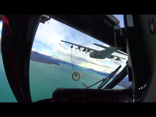 Alaska helicopter air to air refueling