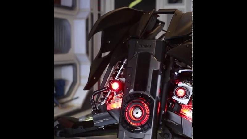 FUXK Batman theme custom MOD high-end split water-cooled host i9-9980XE TITAN SLI