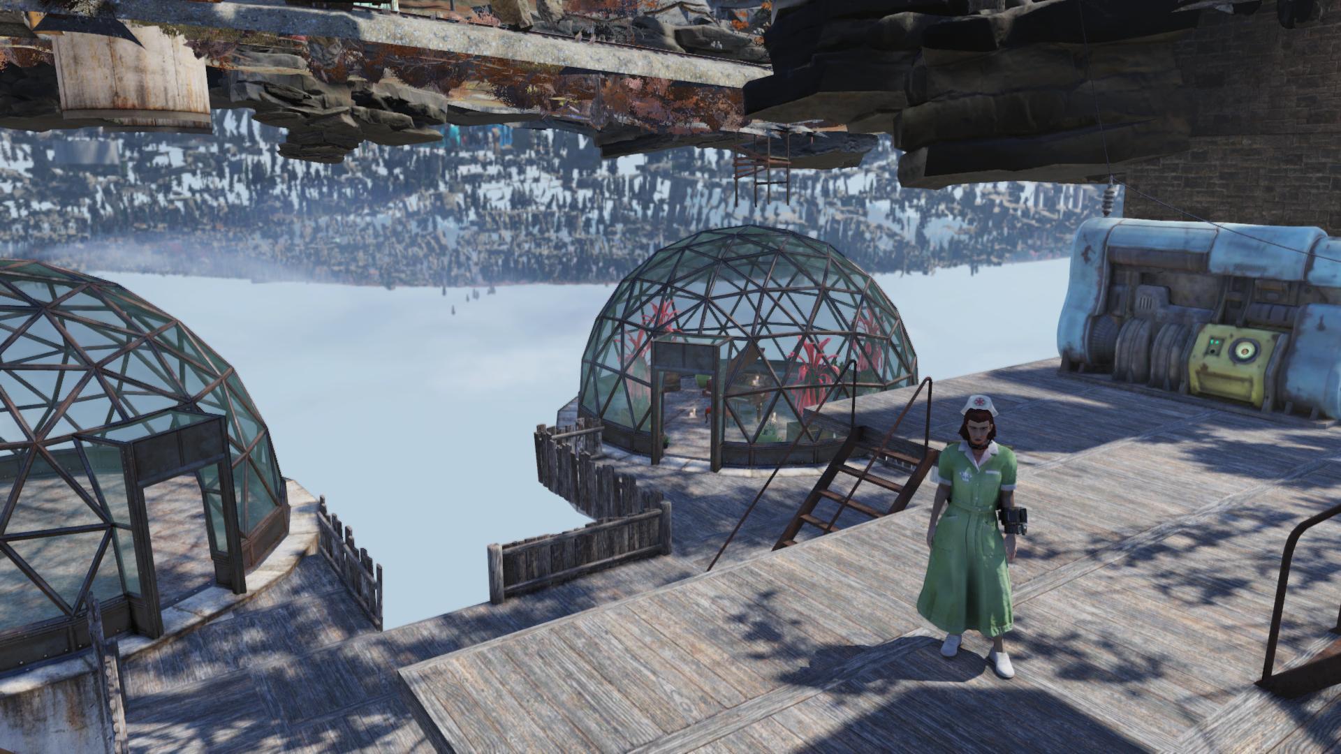 Девушка воспользовалась багом в Fallout 76 и построила подземный лагерь.