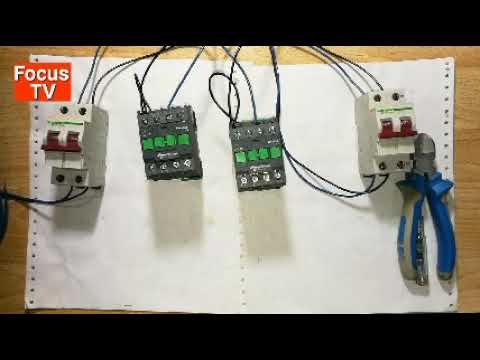 How to control wiring and power wring of manual transfer switch with selector switch