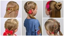 5 Cute hairstyles with HEART 💕Valentines Day Hairstyles💕 Hairstyles for Girls|LittleGirlHair