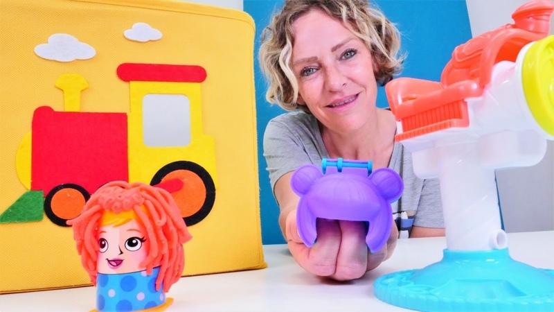 Sihirli kutu video Playdoh berber oyun seti bulalım Eğlenceli oyun