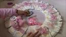 Como hacer una corona de pañales para decorar un baby shower