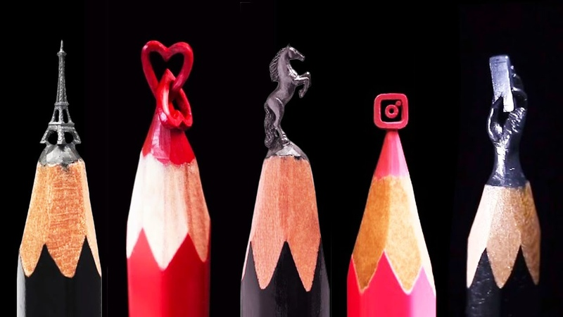 THIS ARTIST TURNS PENCIL TIPS INTO INCREDIBLE SCULPTURES