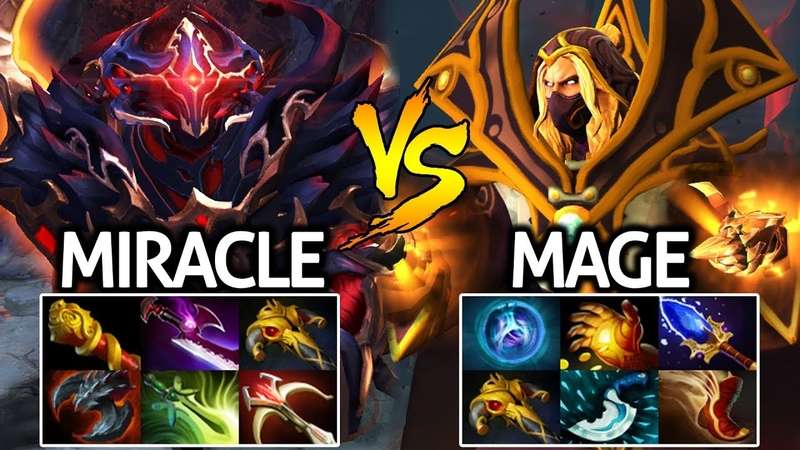 MIRACLE Shadow Fiend VS MAGE Invoker Epic Midlane Battle Fight 7.22 Dota 2