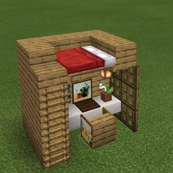 майнкрафт небольшой дом #8