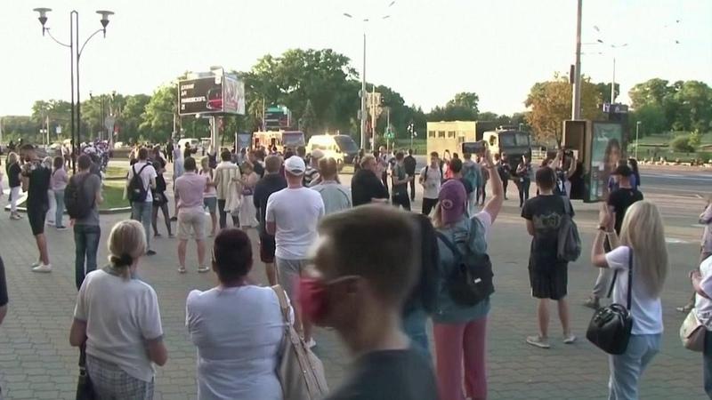 Минувшей ночью беспорядков вцентре Минска удалось недопустить Новости Первый канал