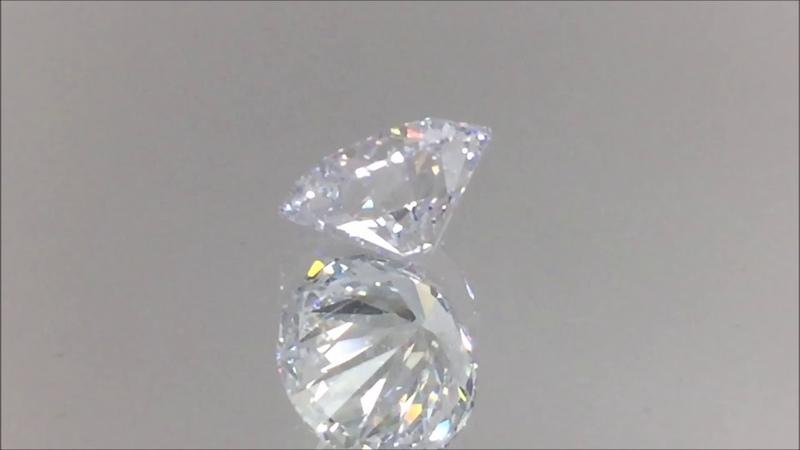 2.04 Carat Lab Created Diamond - Round Cut H VVS2   BigDiamondsUSA