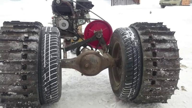 Минитрактор МИКРОБ против 2000 кг Крутая самоделка из мотоблока