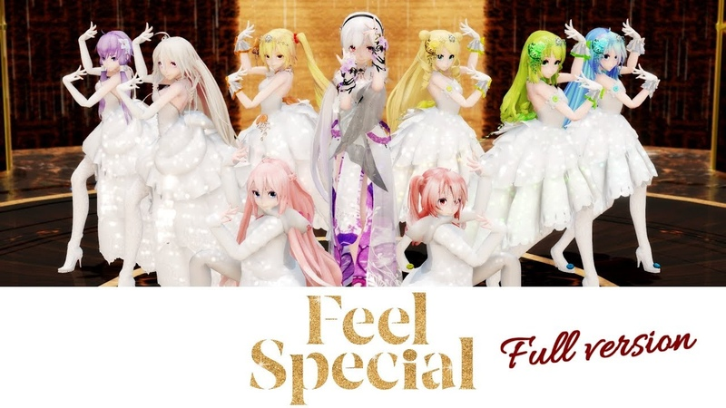 【MMD】TWICE - Feel Special (Full ver.)【50 models14 scenes】Vocaloids Dance cover[4K]