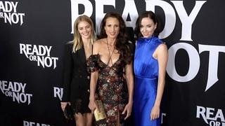 "Samara Weaving, Andie MacDowell, Elyse Levesque ""Ready or Not' LA Special Screening Red Carpet"