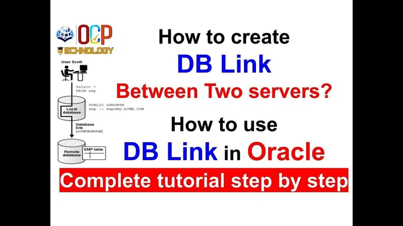 How to create and use DB Link between two servers step by step