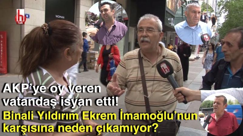 AKP'li vatandaş bile isyan etti Binali Yıldırım Ekrem İmamoğlu'nun karşısına neden çıkamıyor