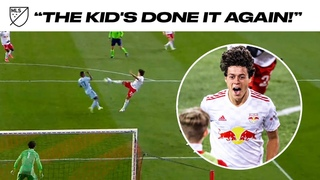 WOW. New York Red Bulls' Caden Clark With an Amazing Volley